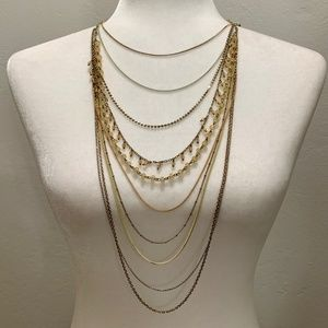 Banana Republic Multi-Chained Cascade Necklace